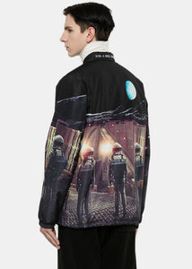 Black Padded Space City Jacket