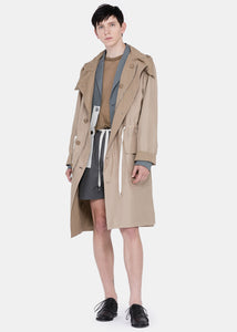 Nut Brown Silk Parka