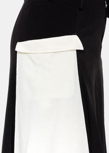 Black Asymmetrical Panelled Skirt