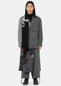 Grey Tailored Collage Coat