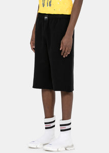 Black Inside-Out Sweat Shorts