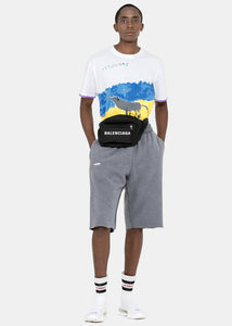 Ice Blue Inside-Out Sweat Shorts