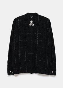 Black Logo Embroidered Oversized Shirt