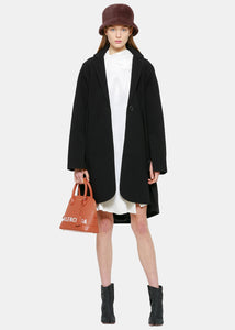 Black Pleated Coat