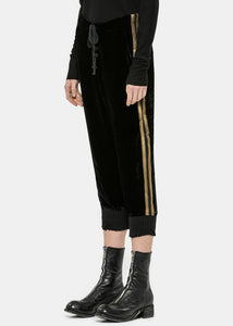 Black Velvet Royal Track Pants