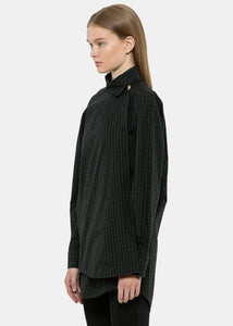 Green Check Pulled Shirt