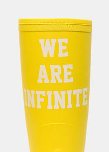 Yellow 'We Are Infinite' Rain Boots