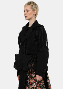 Black Sheer Panel Jacket