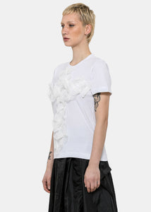 White Floral Cross T-Shirt