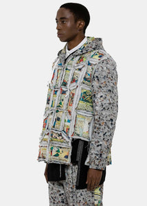 Comics & Pebbles Deconstructed Zip Hoodie