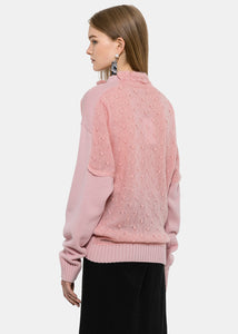 Powder Pink Trompe L'Oeil Sweater