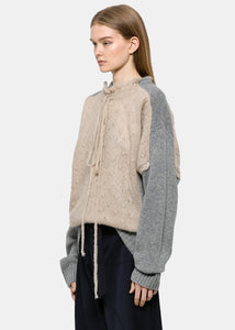 Nude & Grey Trompe L'Oeil Sweater