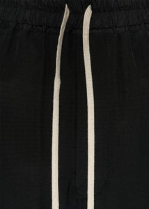 Black Silk Cropped Pants