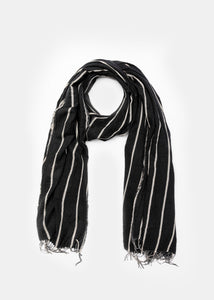 Black & Grey Striped Scarf