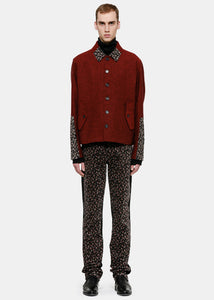 Dard Red Minimal Harrington Blouson