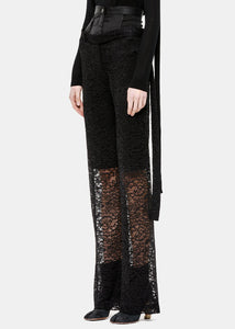Black Wide Layered Pants