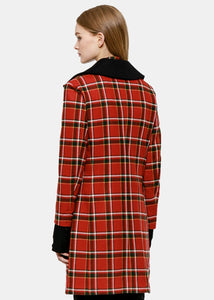 Red Plaid Cromibie Coat