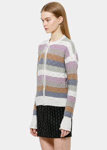 Multicolor Striped Cardigan