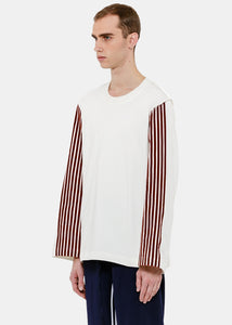 White Brown Stripe T-Shirt