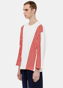 White Red Stripe T-Shirt