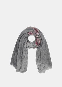 Ice Floral Cashmere Scarf