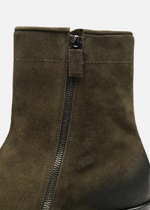 Storm Green Suede Ankle Boots