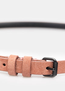 Ganyrede Rose Thin Leather Belt