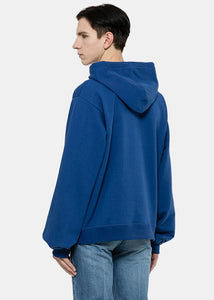 Blue Rose Embroidered Logo Hoodie