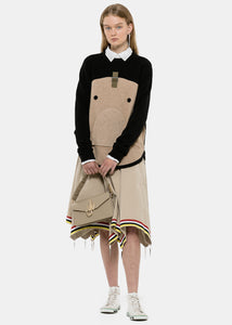 Beige Umbrella Skirt