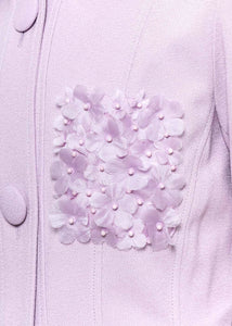 Lilac Floral Applique Coat