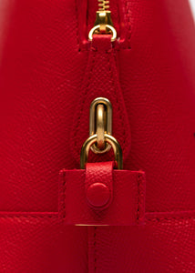 Red Small Ville Top Handle Bag