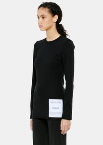 Black Fitted Inside-Out T-Shirt