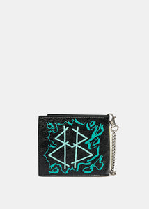 Black Graffiti Chain Wallet