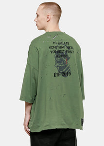 Green Skull Vintage J Box T-Shirt