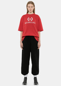 Red Oversized BB Logo T-Shirt