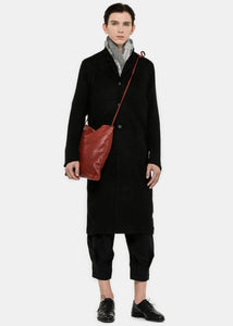Black Wool Overcoat