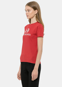 Red Fitted BB Logo T-Shirt