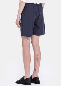 Navy China Elastic Shorts