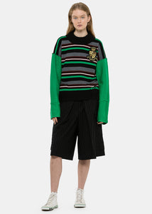 Emerald Deconstructed Stripe Jumper