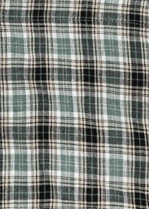 Irish Check Front Slit Shirt