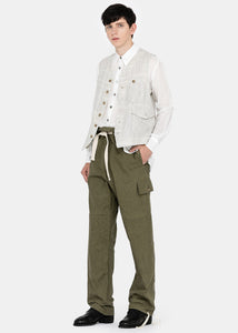 Green Pull Cord Trousers