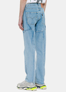 Blue Deconstructed Jeans