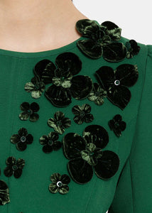 Forest Green Flounced Top