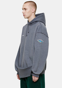 Ice Blue Inside-Out Shark Hoodie