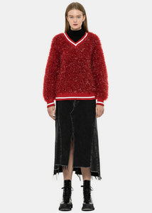 Red Tinsel Sweater