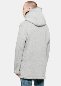 Grey Teddy Oversized Jacket