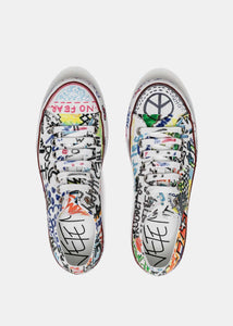 3903e13a1c93 White Graffiti Low-Top Sneakers