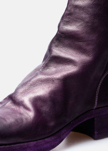 Purple High Back Zip Boots