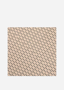Beige Logo Fleece Scarf