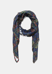 Blue Paisley Fleece Scarf
